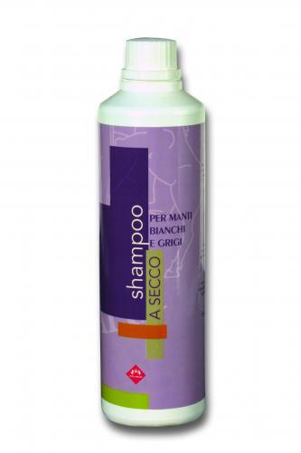 Dry shampoo for grey-coated horses